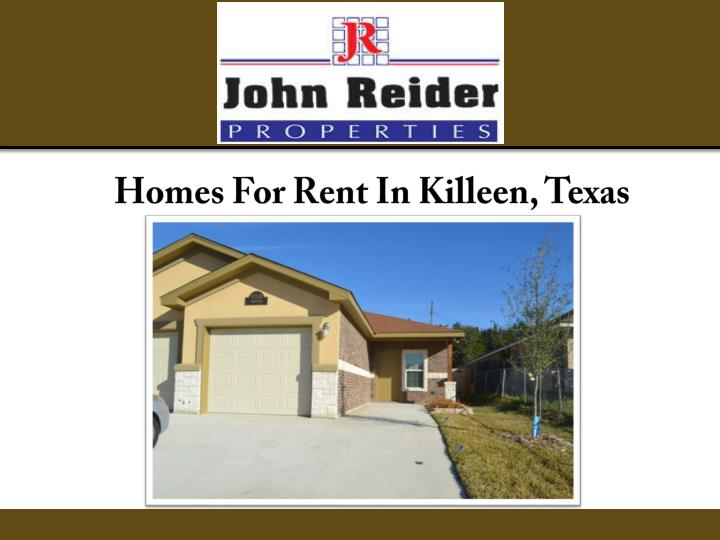 homes for rent in killeen texas n.