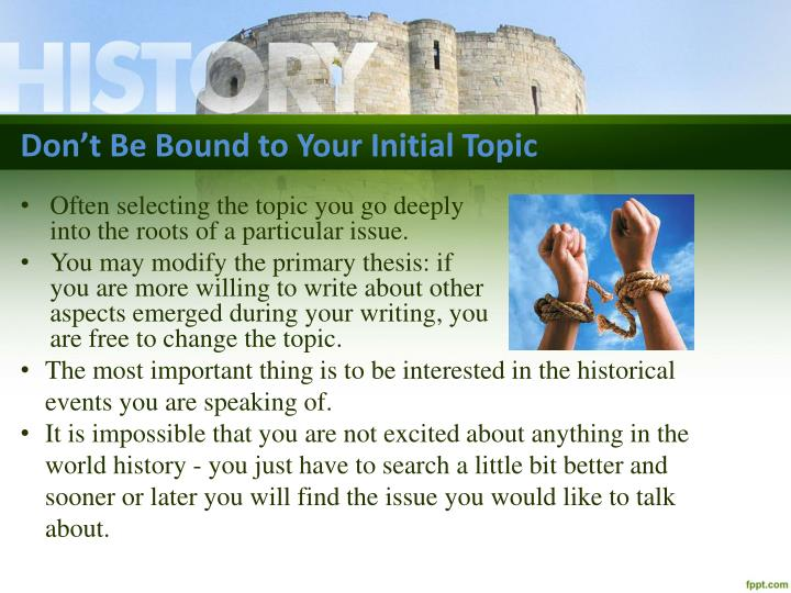 historical topics for research paper An argumentative essay requires you to decide on a topic and take a position on it you'll need to back up your viewpoint with well-researched facts and information as well one of the hardest parts is deciding which topic to write about, but there are plenty of ideas available to get you started.