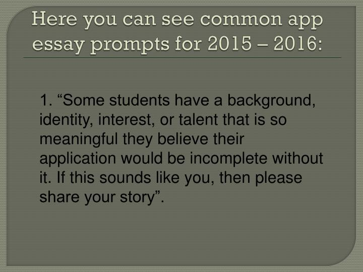 Uc Essay Application Prompt Impact Of Overpopulation School Speech Prompts Writing