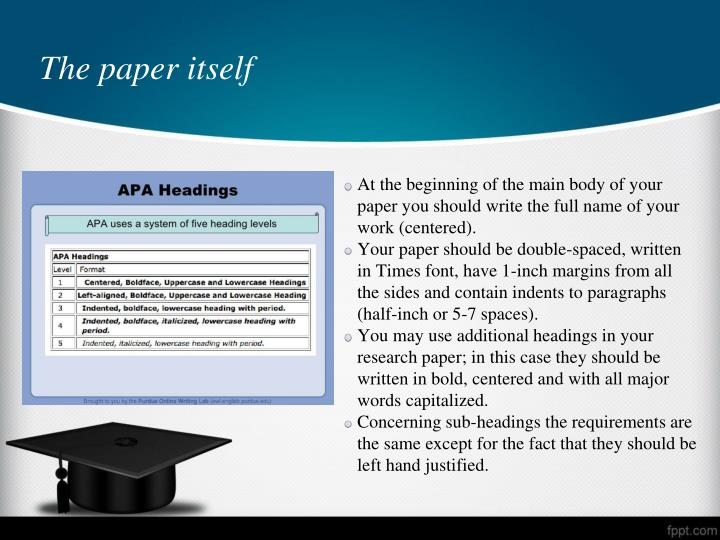 margins apa research paper