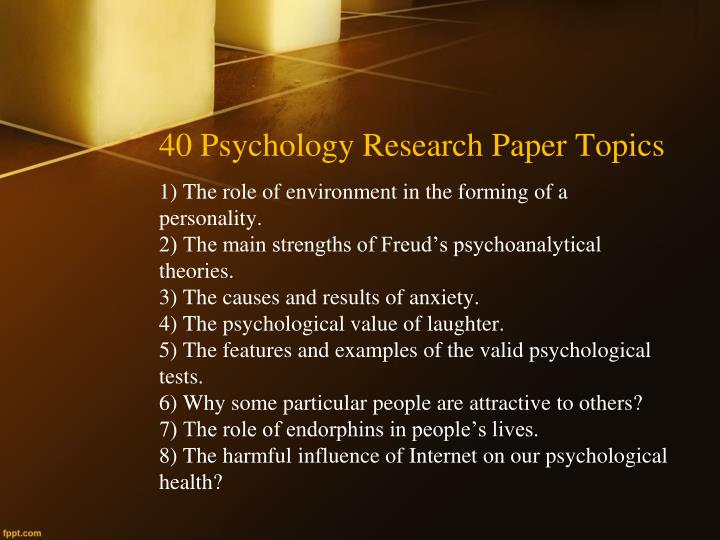 Papers about psychology
