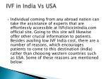 ivf in india vs usa