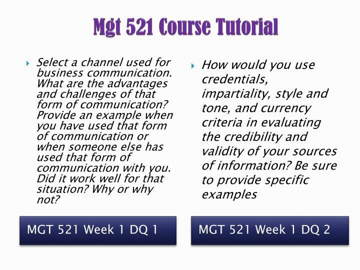 mgt 521 week 1 paper channels