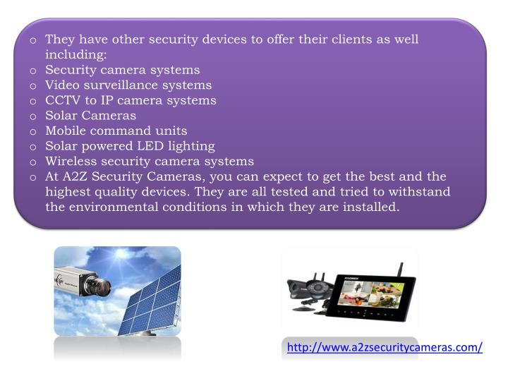 They have other security devices to offer their clients as well including: