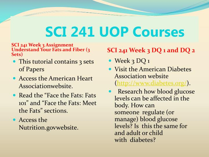 sci 241 nutrition dq 1 Sci 241 week 2 dq2 university of phoenix sci/241 nutrition sci 241 week 6 dq 1 dehydration apa refeences what is are the causes syptoms and treatment of.