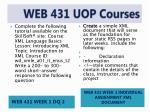 web 431 uop courses2