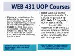 web 431 uop courses4