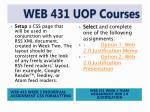 web 431 uop courses6