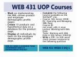 web 431 uop courses8