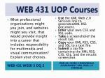 web 431 uop courses9
