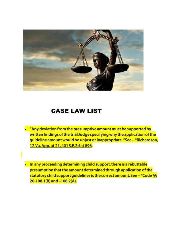 CASE LAW LIST