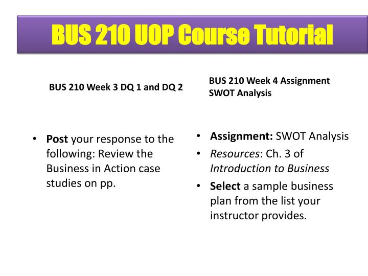 assignment swot analysis bus 210 Bus 211 week 3 swot analysis uop courses click the assignment files tab to submit your assignment appendix b – swot analysis template bus 210 bus.