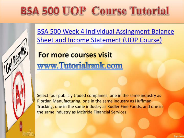 bsa 376 week 2 individual work related Bsa 376is a online tutorial store we provides bsa 376 week 3 work related project analysis part 2.