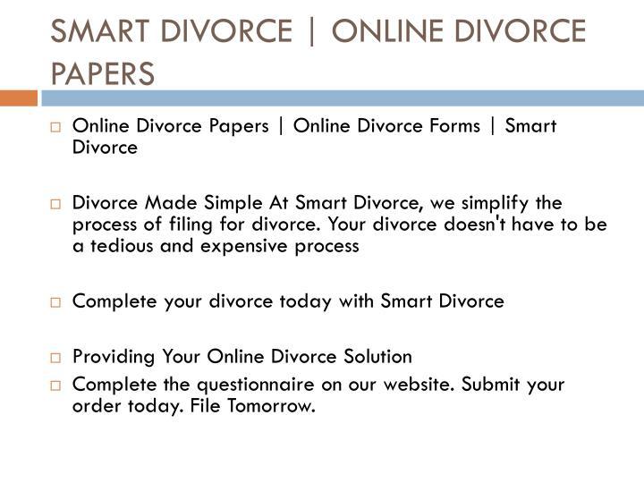 order divorce papers online