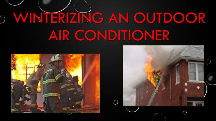 Winterizing an outdoor air conditioner