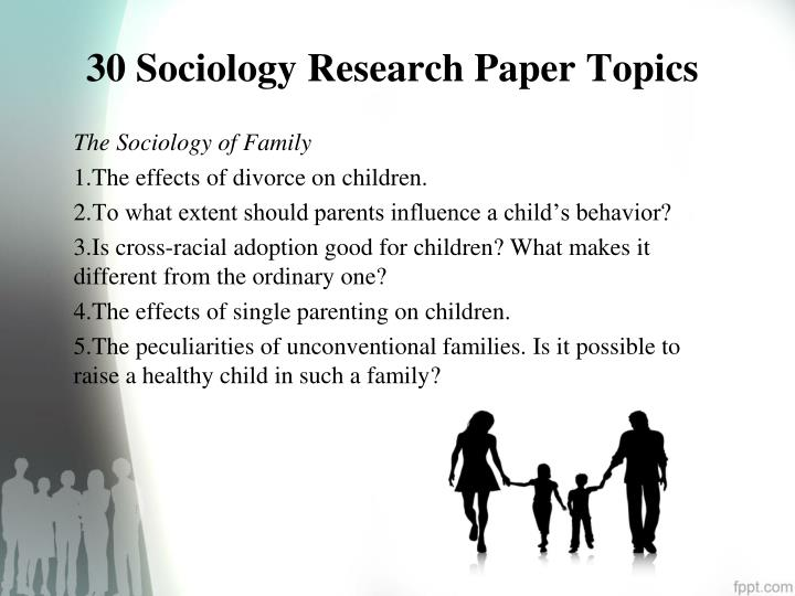 sociology of families research paper