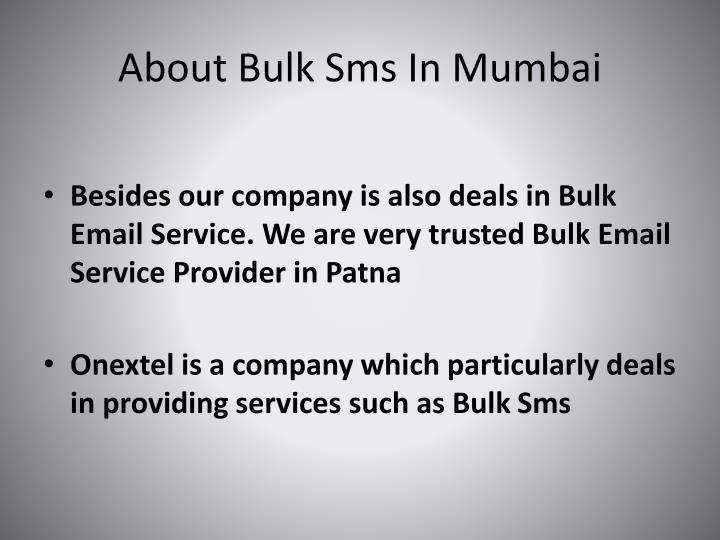 About bulk sms in mumbai