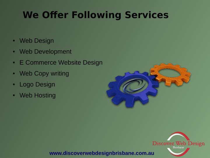 We Offer Following Services