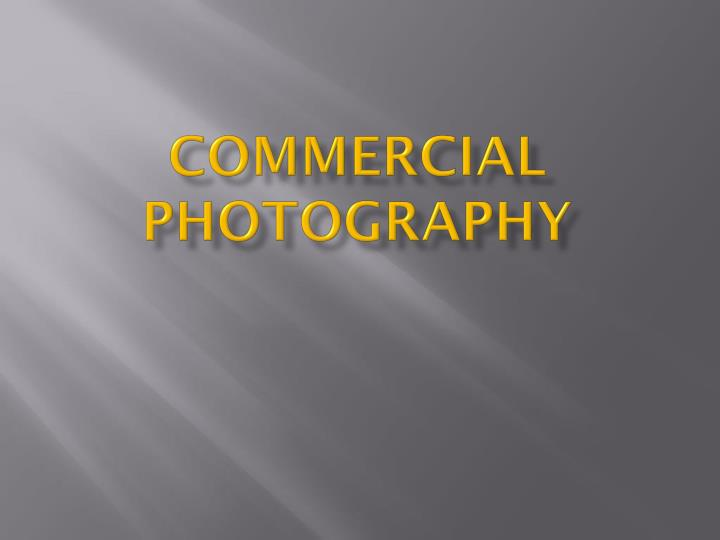 commercial photography n.
