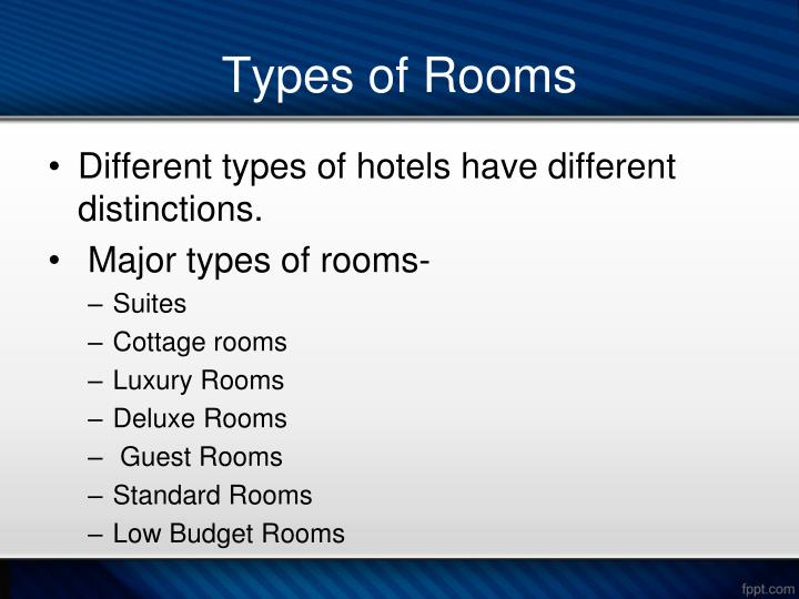 Types Of Rooms Diffe