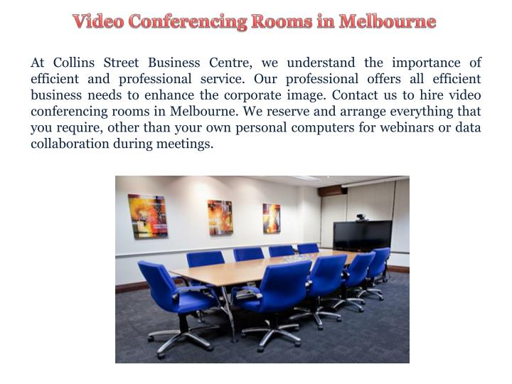 Video Conferencing Rooms in Melbourne
