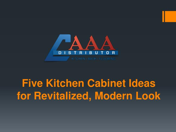 Five kitchen cabinet ideas for revitalized modern look