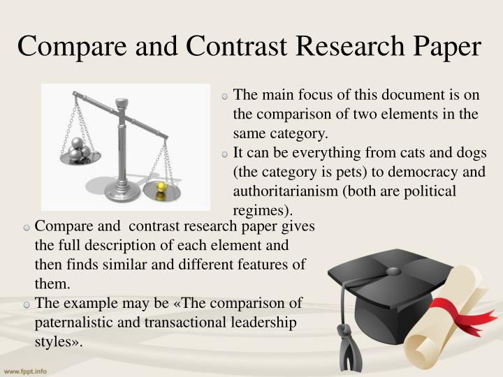 format compare contrast research paper