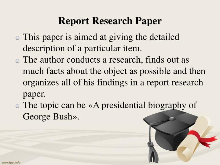 difference report research paper