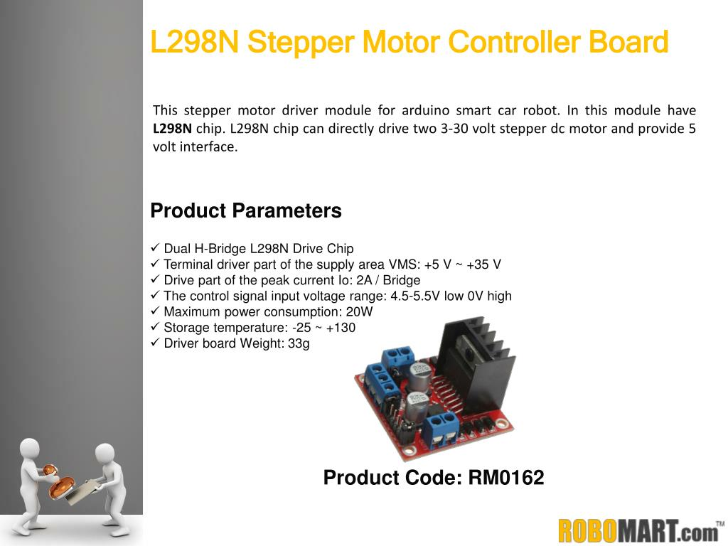 PPT - Robomart - Wireless Stepper Motor Controller Boards
