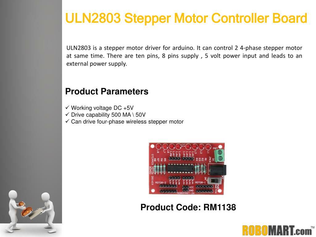 PPT - Robomart - Wireless Stepper Motor Controller Boards