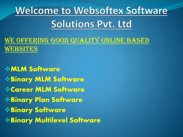 PPT - MLM Software, Binary MLM Software, Career MLM Software