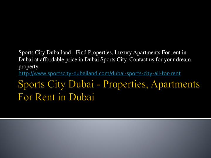 sports city dubai properties apartments for rent in dubai n.