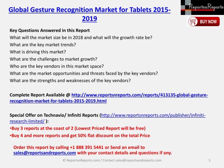 Global Gesture Recognition Market for Tablets 2015-2019