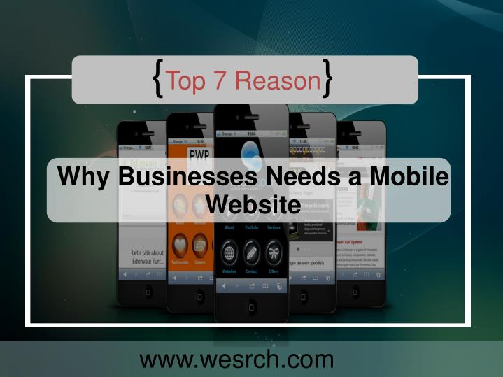 Reason why businesses needs a mobile website