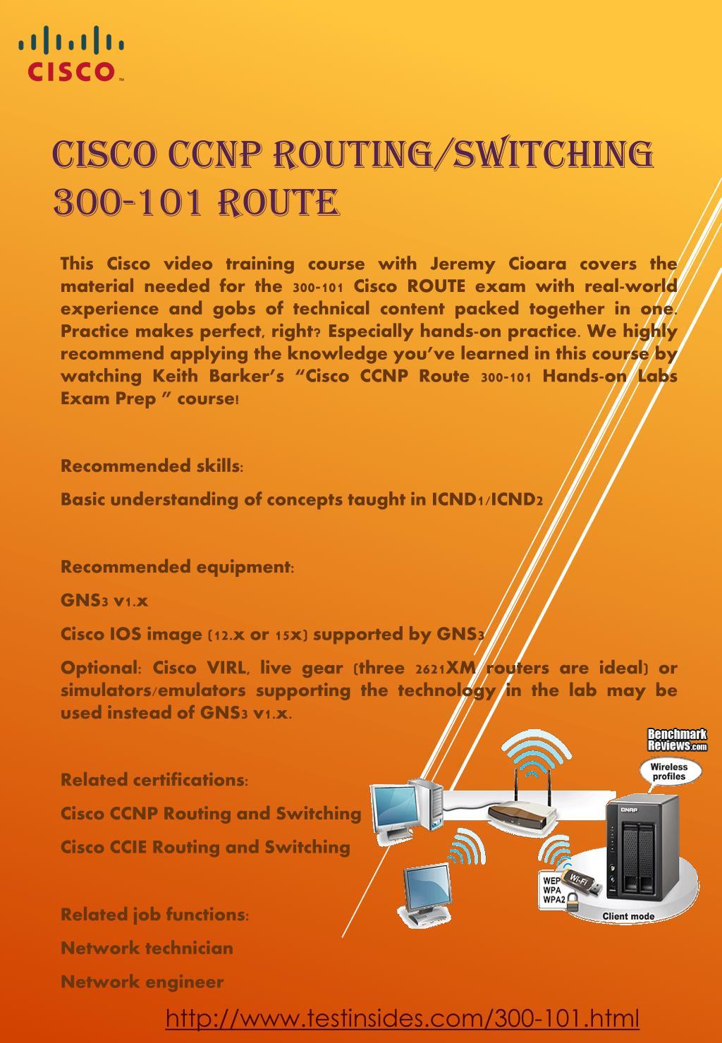 PPT - Cisco 300-101 ROUTE CCNP Braindumps PowerPoint Presentation