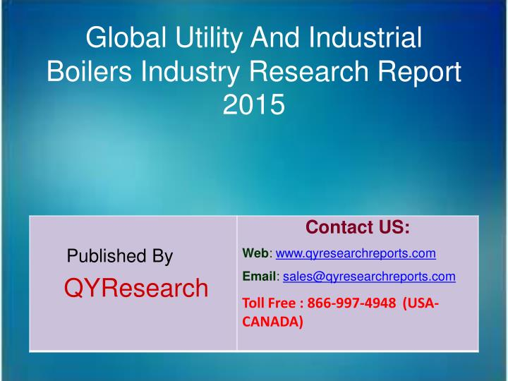 Global Utility And Industrial