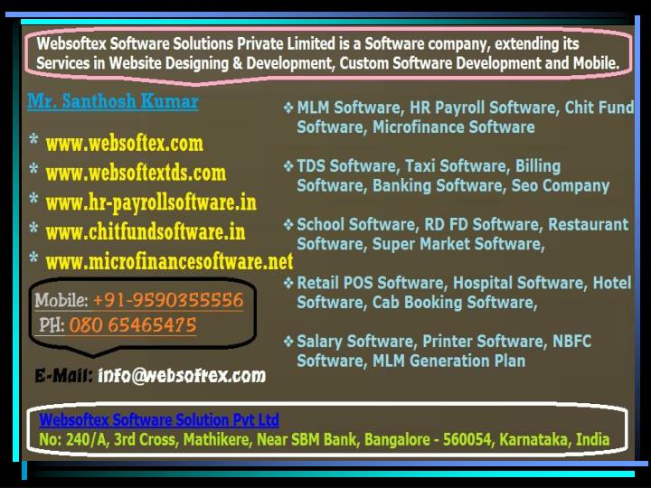 Banking software rd fd software billing software mlm software hospital software hr software loan software