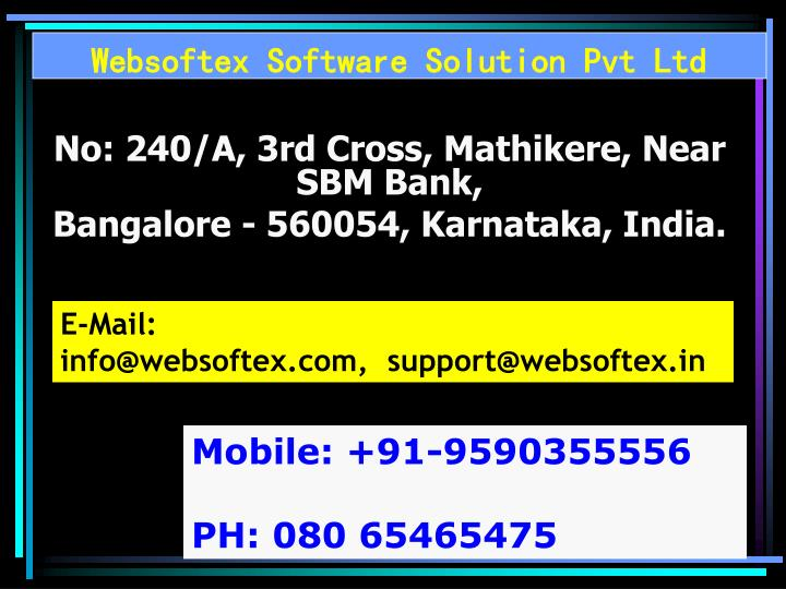 Websoftex Software Solution Pvt Ltd