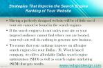 how to increase rankings of your website in search engines