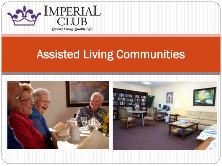 assisted living communities n.