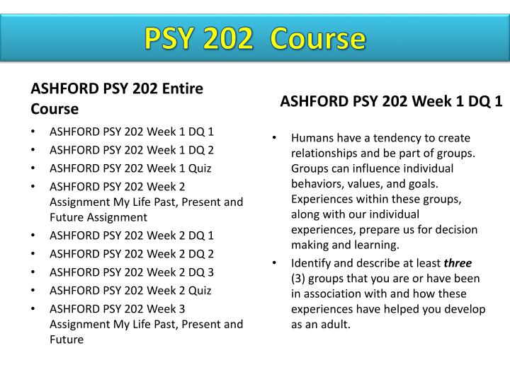 psy202 adult development week 2 quiz This is for psy202:adult development and life assessment suggested diagnosis was what i hoped and will take this info to my doctor's appointment next week i feel.