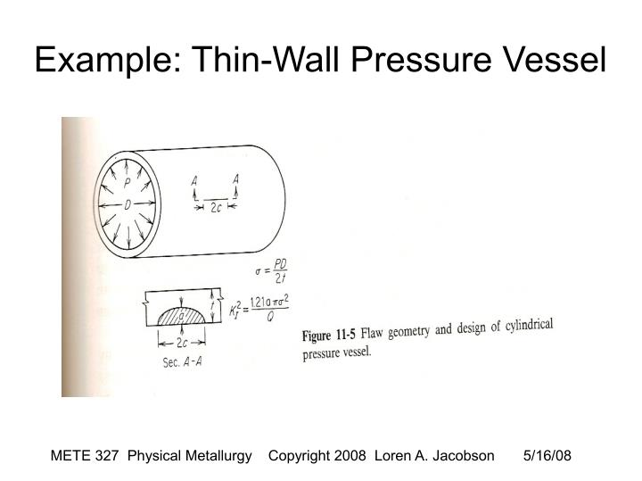 Example: Thin-Wall Pressure Vessel