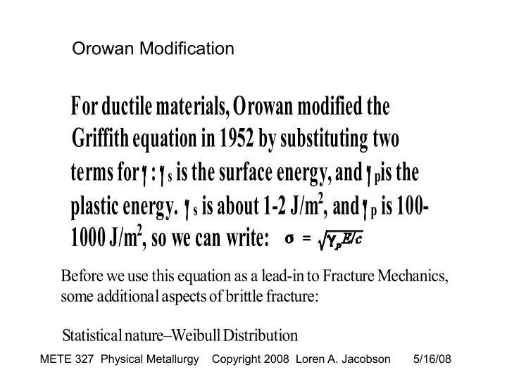 Orowan Modification