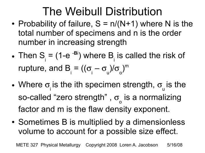 The Weibull Distribution