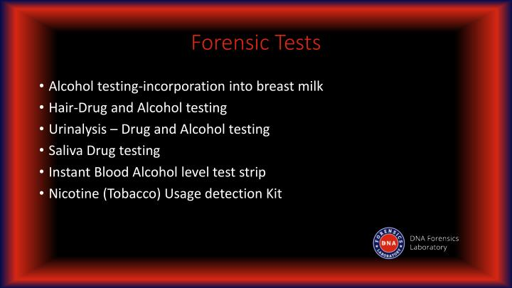 Forensic Tests