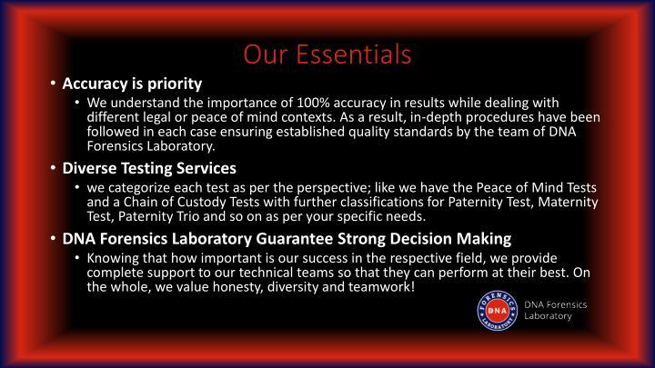 Our essentials