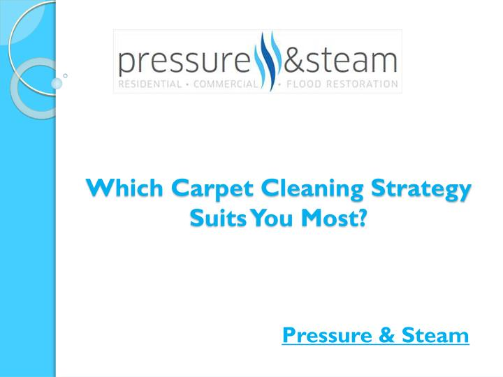 which carpet cleaning strategy suits you most n.