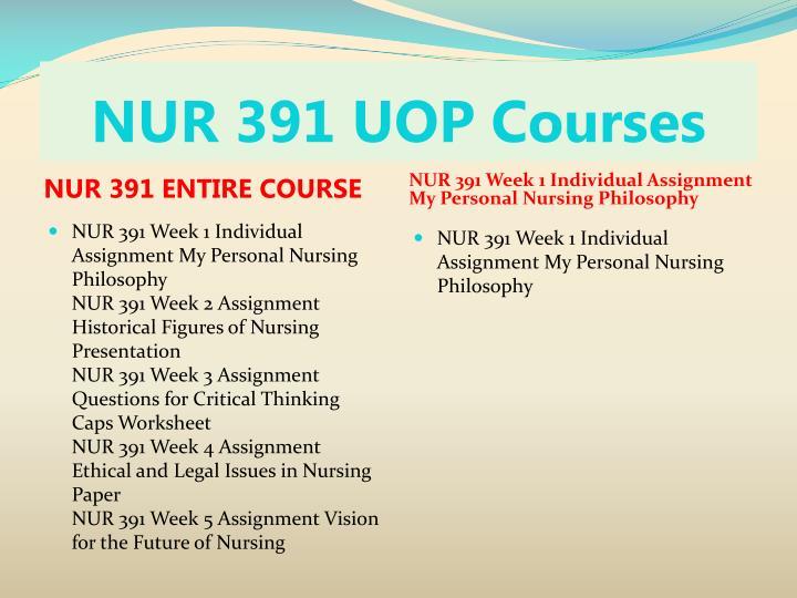 Nur 391 uop courses1