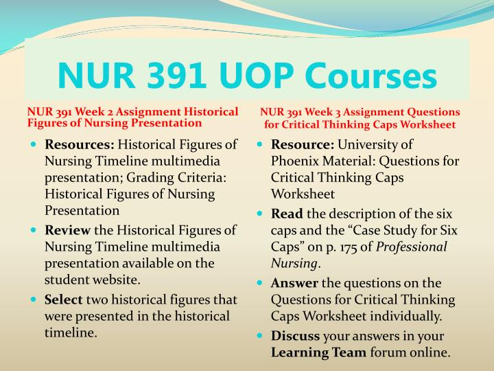 Nur 391 uop courses2