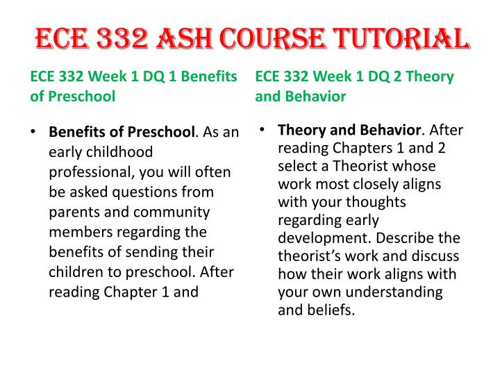 ece 332 Ece/332 ece332 ece 332 week 2 discussion 2 / dq 2 conception to birth there are three major stages from conception to birth they are the germinal stage (first two weeks following conception) the embryonic stage (until the end of the eighth week) and t.